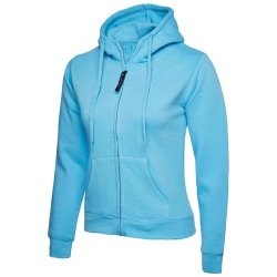 Uneek UC505 Ladies Classic Full Zip Hooded Sweatshirt 300gsm