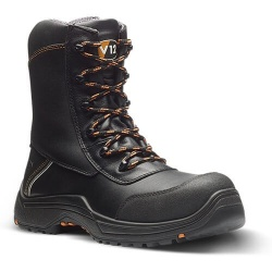 V12 Footwear E1300.01 Defiant IGS Black Zip Side Hi-Leg IGS Boot