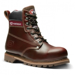 V12 Footwear V1236 Boulder Mahogany Hide Derby Safety Boot