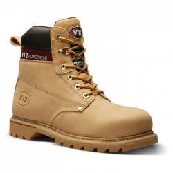 V12 Footwear V1237 Boulder Honey Hide Derby Safety Boot