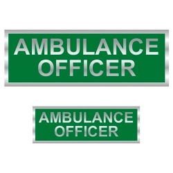Ambulance Officer Reflective Badge (Back & Front)