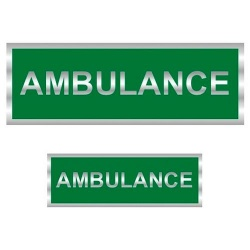 Ambulance Reflective Badge (Back & Front)