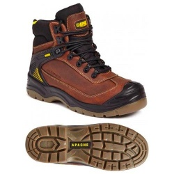 Apache Workwear Ranger Waterproof Safety Hiker Brown