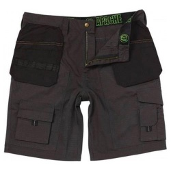 Apache Workwear Holster Pocket Shorts Grey