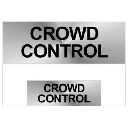 Crowd Control Reflective Badge (Front & Back)