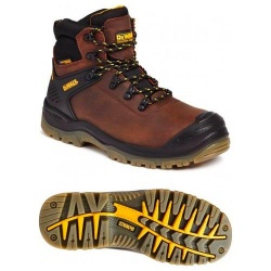 Dewalt Newark Waterproof Safety Hiker Boot Brown