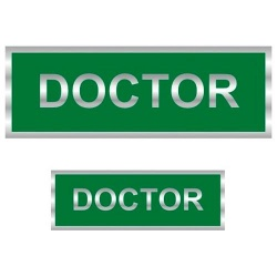 Doctor Reflective Badge (Back & Front)