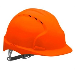 EVO2® Mid Peak Ventilated One Touch Slip Ratchet Orange Hard Hat