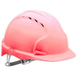EVO2® Mid Peak Ventilated One Touch Slip Ratchet Pink Hard Hat