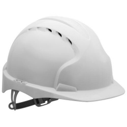 EVO2® Mid Peak Ventilated One Touch Slip Ratchet White Hard Hat