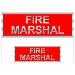 Fire Marshal Badges Reflective with Red (Back & Front print)