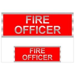 Fire Officer Reflective Badges (Front and Back)
