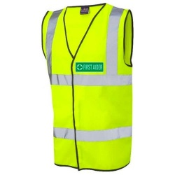 First Aider Hi Vis Waistcoat Yellow