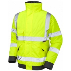 Leo Workwear J01-Y Hi Vis Bomber Jacket Yellow