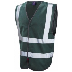 Leo Workwear W05-BT Pilton Bottle Green Hi Vis Vest