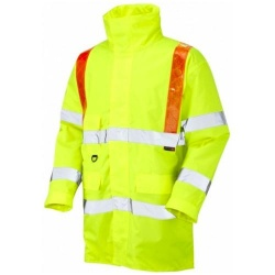 Leo Workwear A02/Y Hi Vis Jacket Class 3 Yellow / Orange Braces
