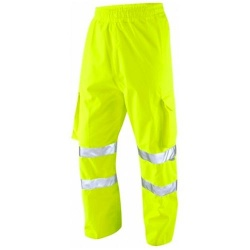 Leo Workwear L02-Y Instow Executive Cargo Hi Vis Overtrouser Yellow