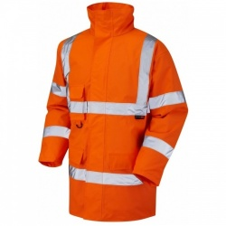 Leo Workwear A01-O Tawstock Hi Vis Jacket Railway Orange