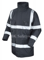 Hi Vis Superior Jacket Navy Blue