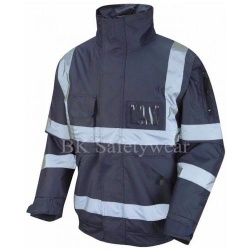 Hi Vis Superior Bomber Jacket Navy Blue