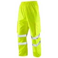 Leo Workwear L01-Y Hi Vis Superior Cargo Overtrouser Yellow