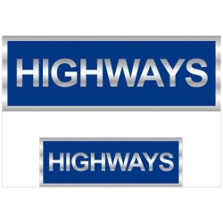 Highways Reflective Badge (Front & Back)