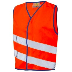 Leo Workwear CW01-O Kids Hi Vis Waistcoat Orange