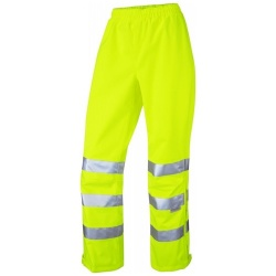 Leo Workwear LL02-Y Hannaford ISO 20471 Class 2 Breathable Ladies Overtrouser Yellow