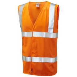 Leo Workwear W08-O Milford Hi Vis Limited Flame Spread Waistcoat Orange
