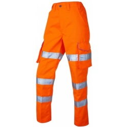 Leo Workwear CL01-O Pennymoor Ladies Polycotton Cargo Hi Vis Trouser Orange