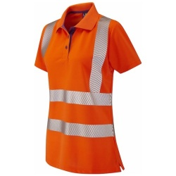 Leo Workwear PL03-O PIPPACOTT ISO 20471 Class 2 Coolviz Plus Ladies Polo Shirt Orange