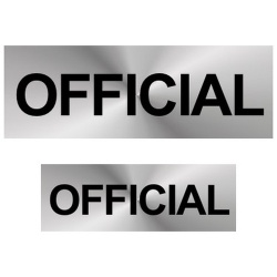Official Reflective Badge (Front & Back)