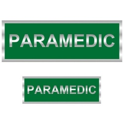Paramedic Reflective Badge (Back & Front)