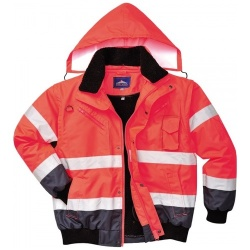 Portwest C465 Hi-Vis Contrast Bomber Jacket 3 in 1