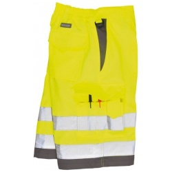Portwest E043 Hi Vis Poly Cotton Shorts Yellow
