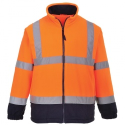Portwest F301 Hi Vis Two Tone Fleece Orange