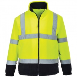 Portwest F301 Hi Vis Two Tone Fleece Yellow