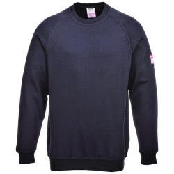 Portwest FR12 Flame Resistant Anti Static Long Sleeve Sweatshirt Navy