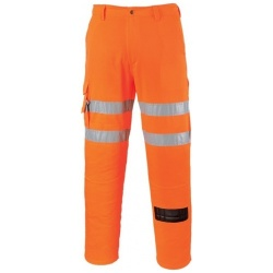 Portwest RT46 Rail Combat Hi Vis Trousers Orange
