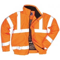 Portwest Railway RT32 Hi Vis Bomber Jacket GO/RT