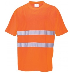 Portwest S172 Cotton Comfort Hi Vis T-shirt Orange