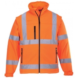 Portwest S424 Hi Vis Classic Softshell Jacket Orange