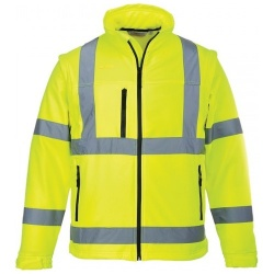 Portwest S424 Hi Vis Classic Softshell Jacket Yellow