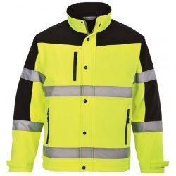 Portwest S429 Two Tone Softshell Jacket Yellow/Black