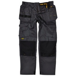 Dewalt Pro Tradesman Knee Pad Holster Trouser Grey