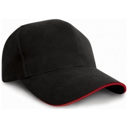 RESULT RC025P Pro-Style Heavy Brushed Cotton Cap with Sandwich Peak