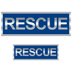 Rescue Reflective Badge (Front & Back)