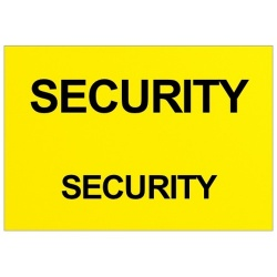 Security Text Badge (Front & Back)