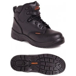 Worksite SS604SM Mid-Cut S1P SRA Safety Boot Black