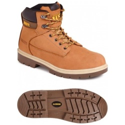 Worksite SS613SM 6 Eyelet Unisex S1P SRA Safety Boot Wheat